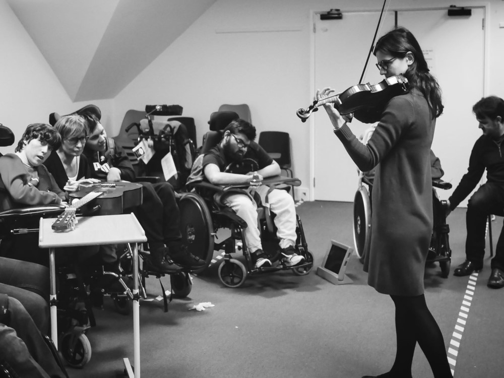 SÓN Orchestra and SocoMusic, Tales of the Young Persons Orchestra workshop with pupils at Rosewood Free School