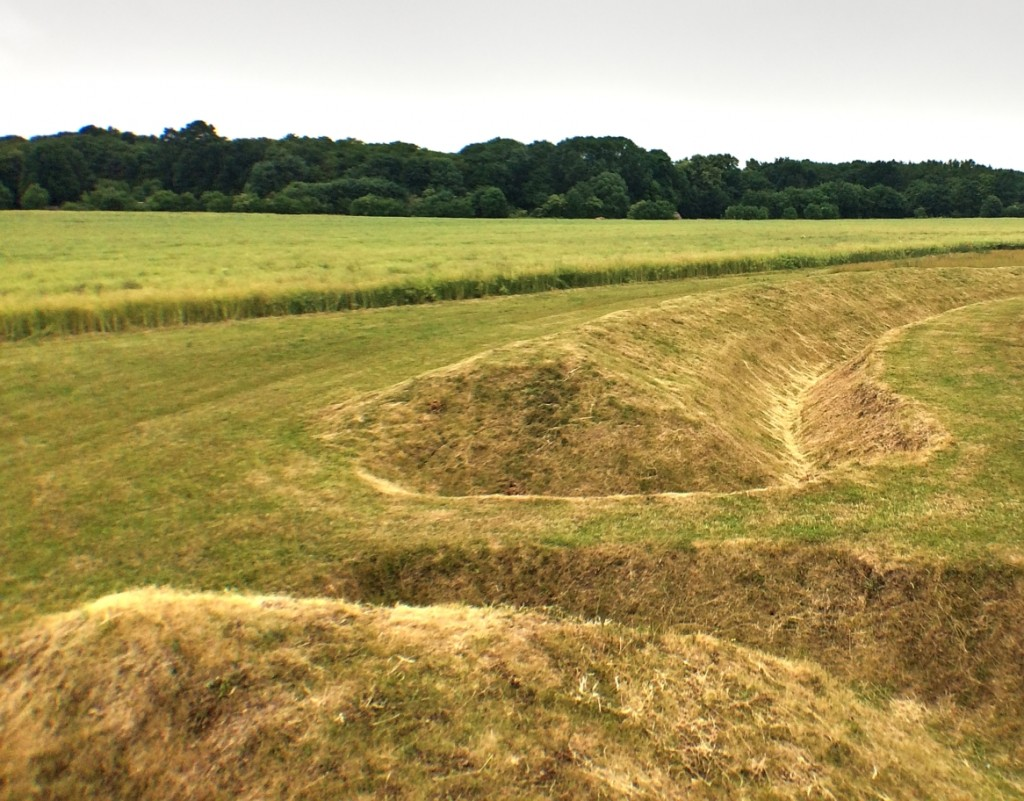 Photo of banks at the Circular Ditched Enclosure at Goseck (Saxony-Anhalt, Germany). This are not real Neolithic banks, but modern reconstructions