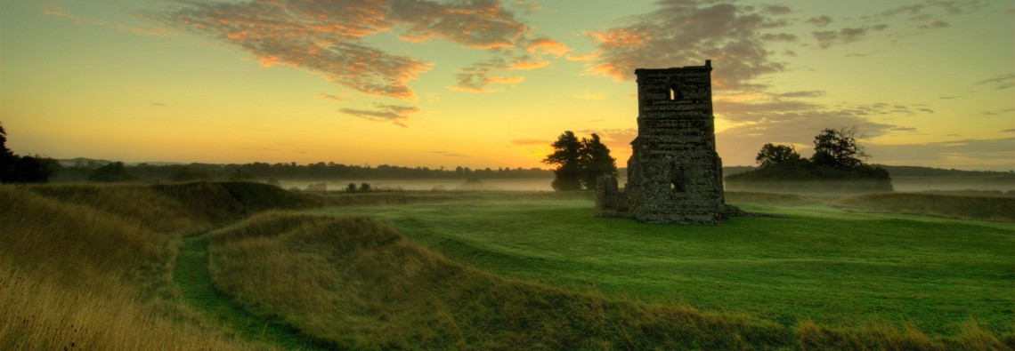 Photo of Knowlton Church at dawn