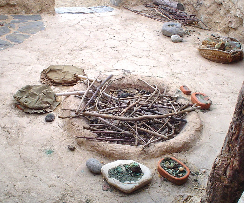 Reconstructed metalworking workshop at Los Millares (Almería, Spain). Copper Age Period (3rd millennium BC)