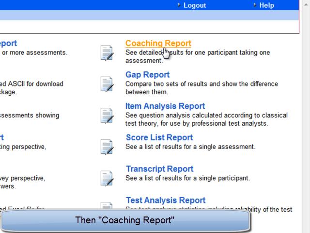 Coaching Report