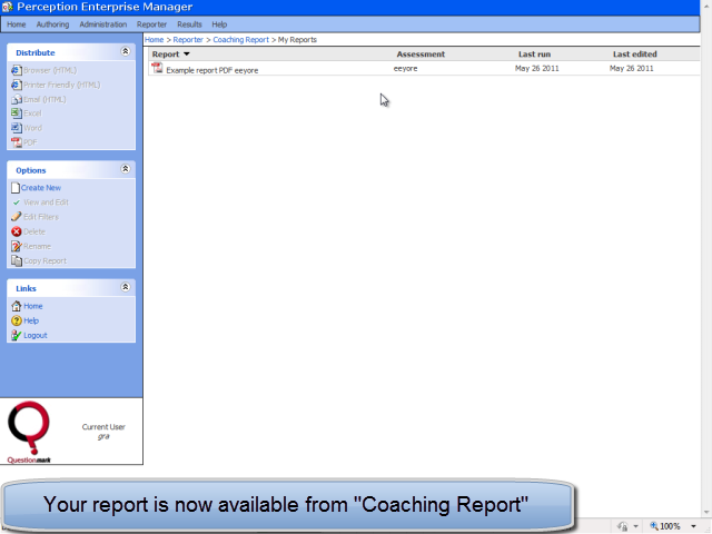Report available