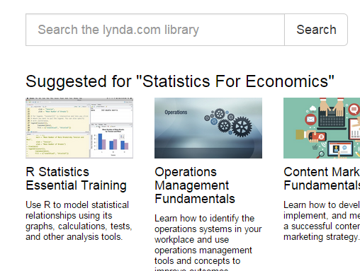 Suggested Lynda courses