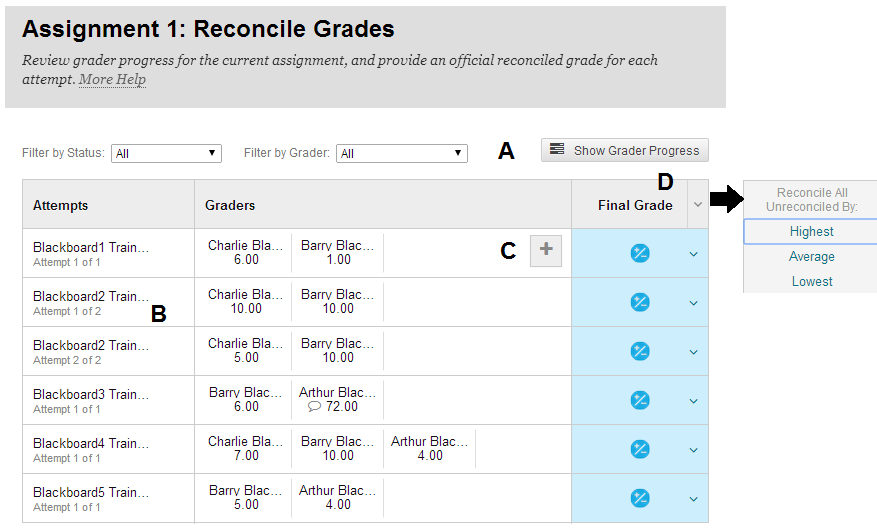 Reconcile Grades