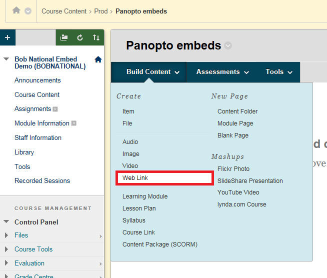 Embedding Panopto video with a link – eLearning Support and