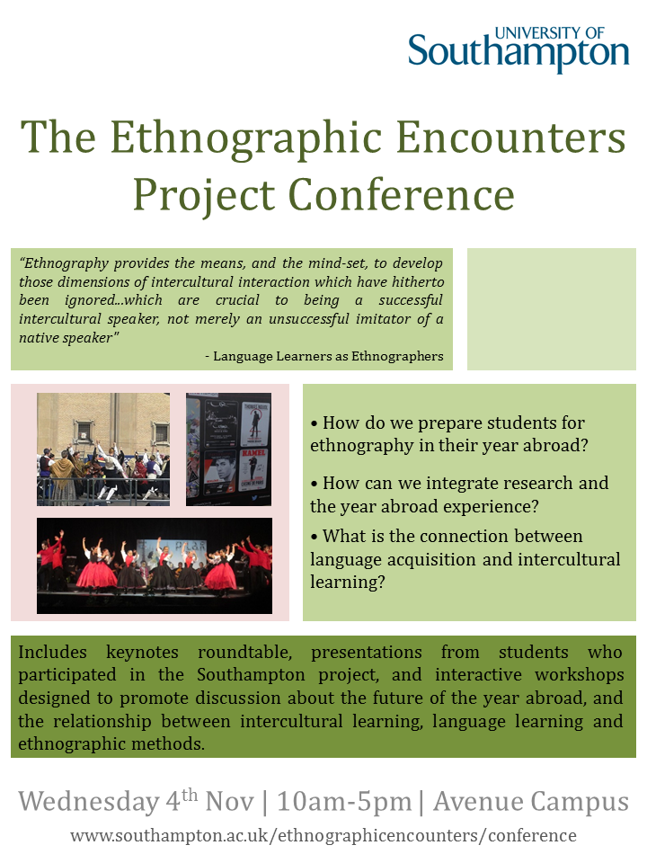 The Ethnographic Encounters Project Conference Poster