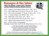 Italian Film Programme - Autumn 2016