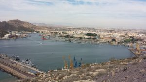 Actual view of the harbour of Cartagena, ancient Cartagonova (photo Felipe Cerezo Andreo)