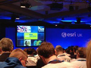 Plenary session of the 2015 ESRI UK Annual Conference (Photo: Maria del Carmen Moreno Escobar)