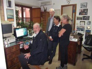 Meeting at the office of the Soprintendenza per I Beni Archeologici di Napoli at Pozzuoli with Dr. Lucio Amato, Prof, Simon Keay, Dr. Costanza Gialanella and Dr. Alessandra Benini.