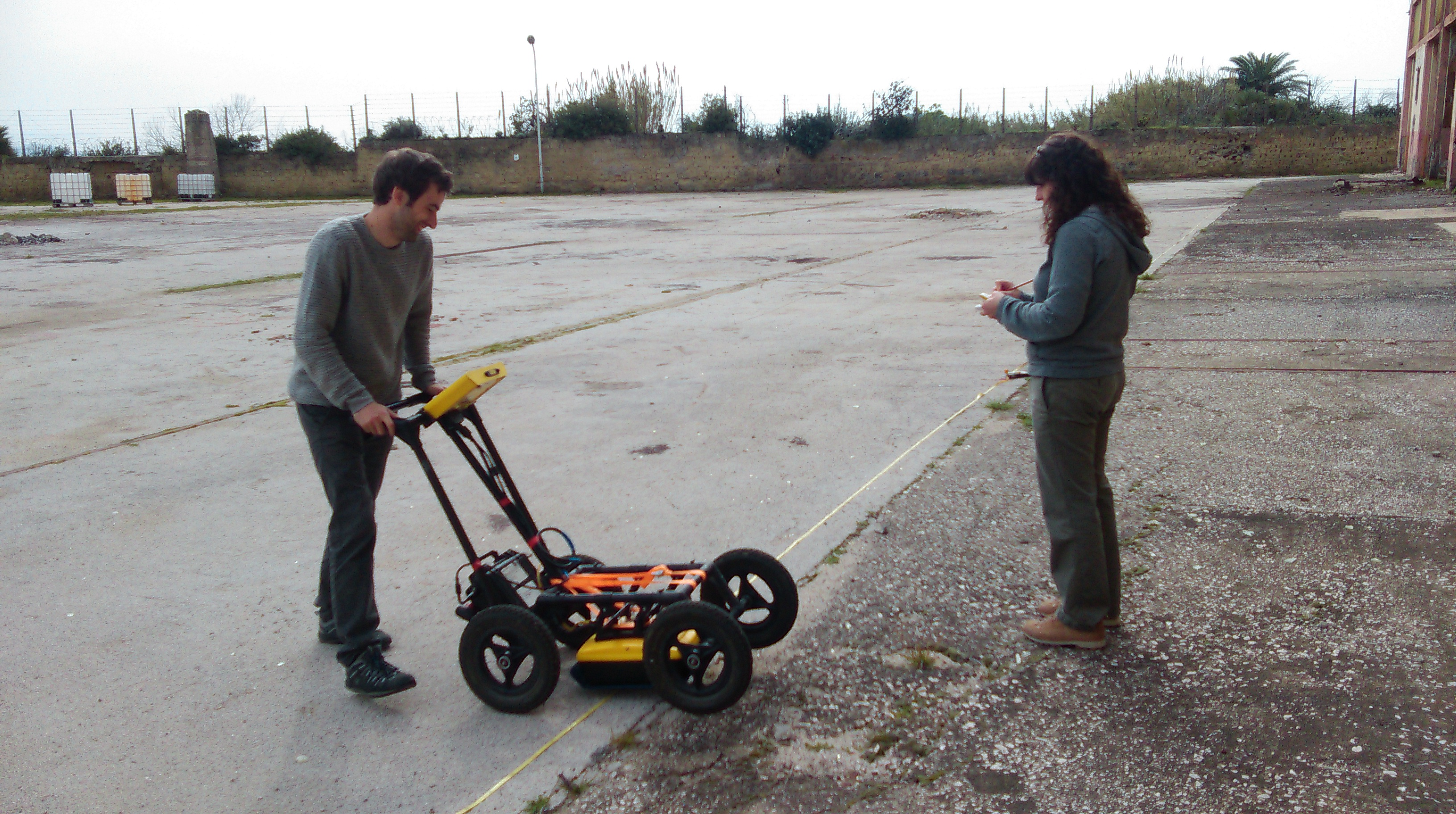 GPR and note-taking on site
