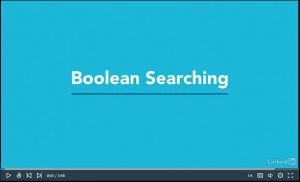 LinkedIn Learning video about Boolean searching.