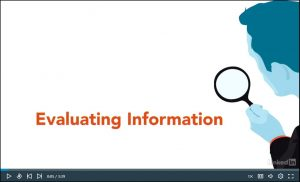 LinkedIn Learning tutorials about evaluating information