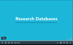 LinkedIn Learning tutorial about research databases.