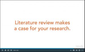 LinkedIn Learning tutorial about developing your literature review