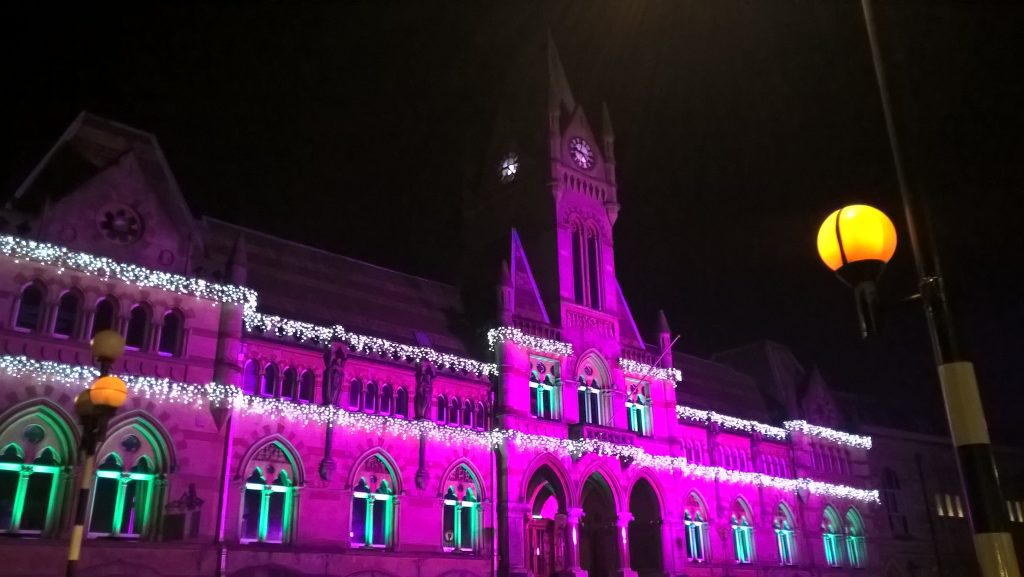 Winchester Guildhall in festive decoration