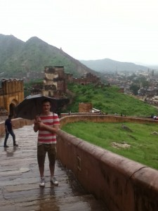 The Amber Fort During a Downpour