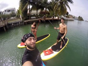 Impromptu paddleborading session with some friends. Even had dolphins drop by!