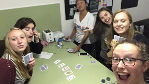 Poker with the gals