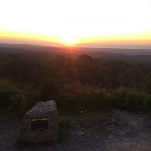 The sunset from Mount Lofty after a long and hot hike