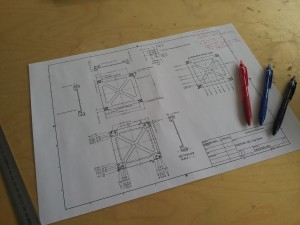 The load-bearing structure drawings