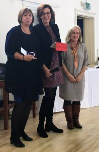 Professor Dame Wendy Hall receiving the Suffrage Science Award at Bletchley Park