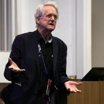 Ted Nelson at the University of Southampton, 2016