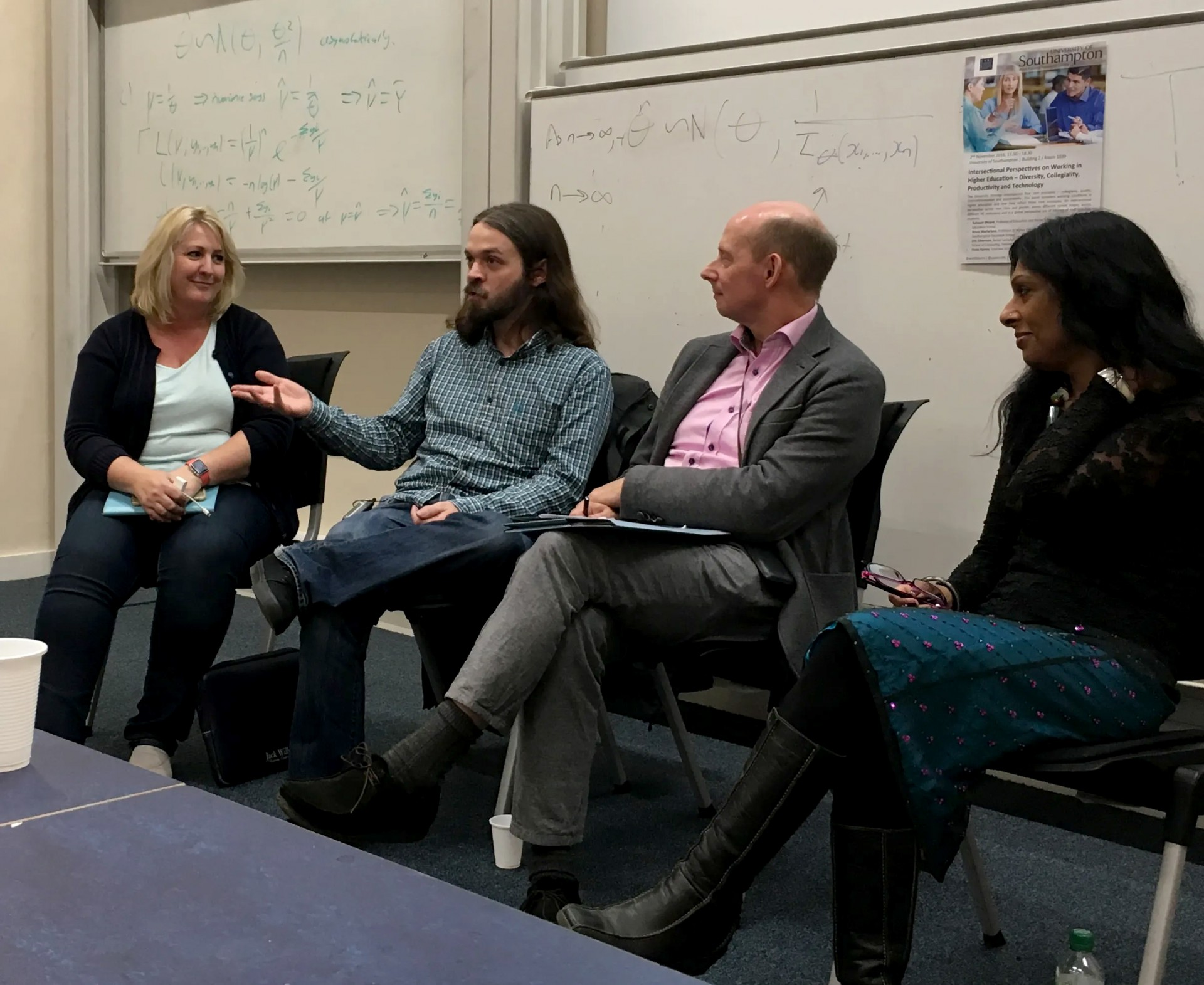 From left to right: Fiona Harvey, Eric Silverman, Bruce Macfarlane, Kalwant Bhopal