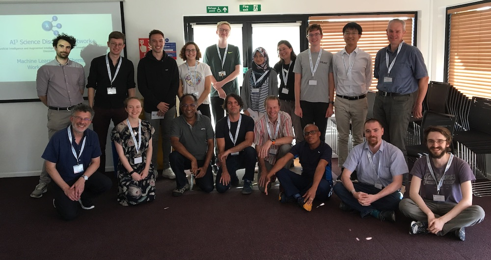 12-13/09/2019 – AI3SD Machine Learning for Chemistry Training Workshop & Hackathon – Wide Lane Southampton