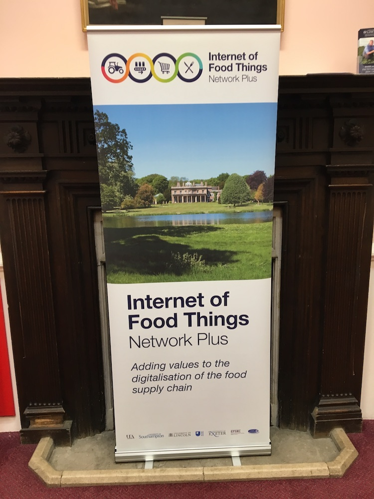 17/09/2019 – AI3SD Presents at Internet of Food Things Network+ Conference