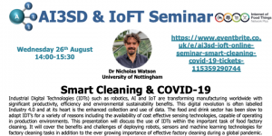 Read more about the article 26/08/2020 – AI3SD Online Seminar Series: Smart Cleaning & COVID-19 – Dr Nicholas Watson