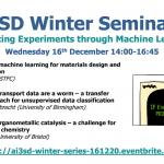 16/12/2020 – AI3SD Winter Seminar Series: Enhancing Experiments through Machine Learning