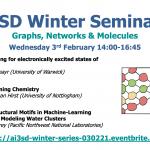 03/02/2021 – AI3SD Winter Seminar Series: Graphs, Networks & Molecules
