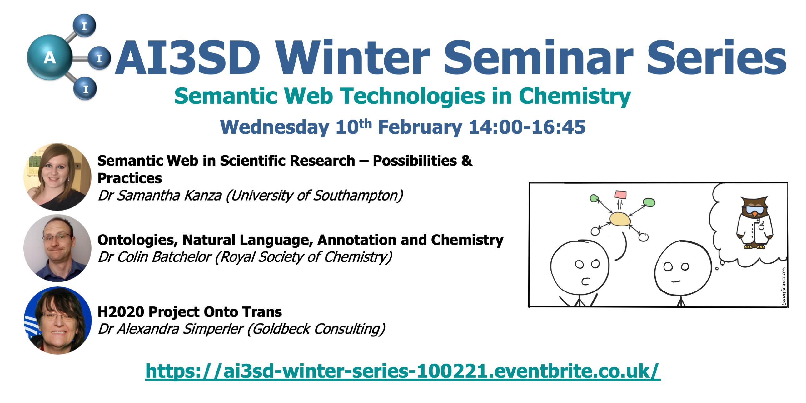 Read more about the article 10/02/2021 – AI3SD Winter Seminar Series: Semantic Web Technologies in Chemistry