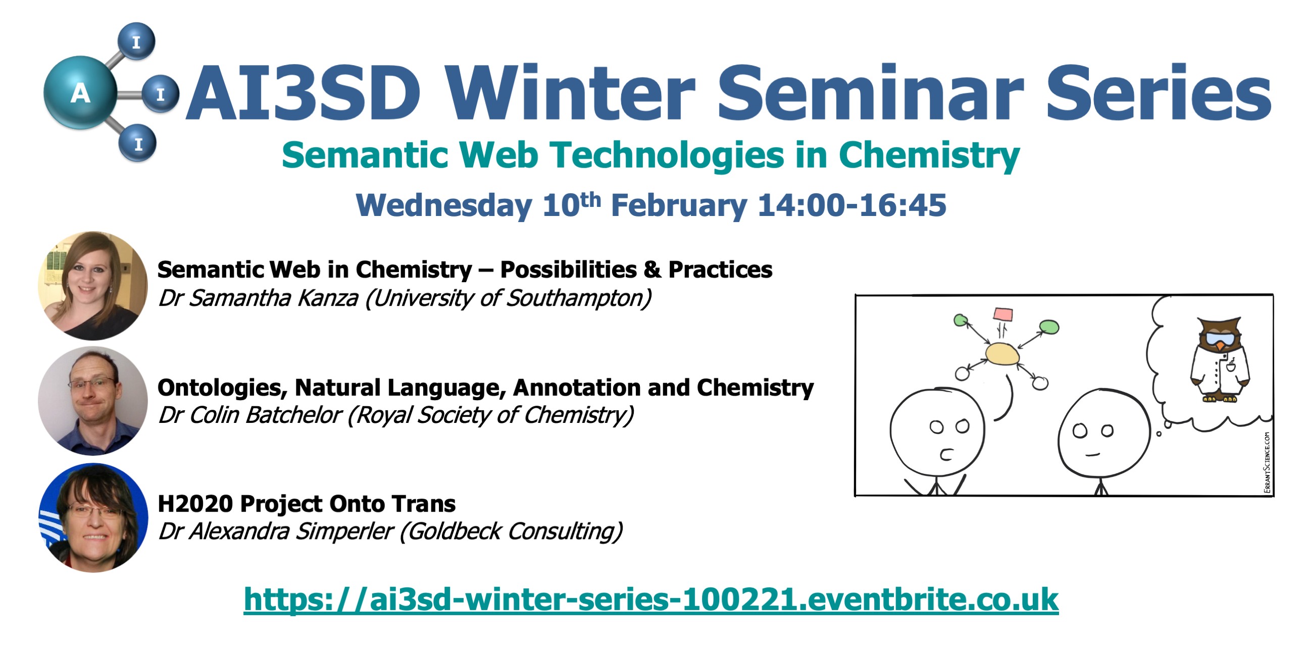 10/02/2020 – AI3SD Winter Seminar Series: Semantic Web Technologies in Chemistry