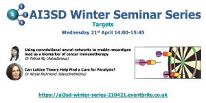 Read more about the article 21/04/2021 – AI3SD Winter Seminar Series: Targets