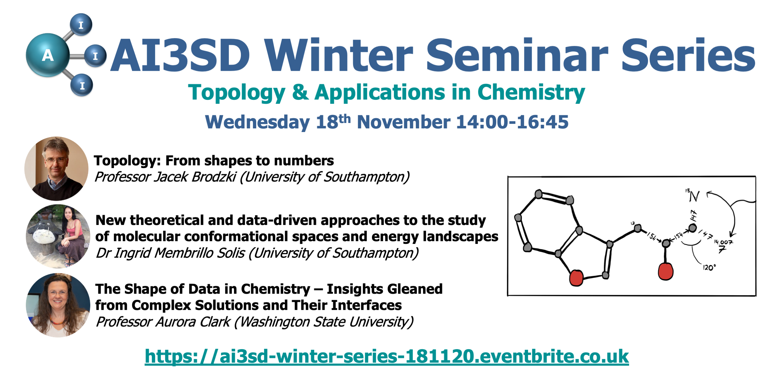 18/11/2020 – AI3SD Winter Seminar Series: Topology and Applications in Chemistry