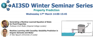 Read more about the article 17/03/2021 – AI3SD Winter Seminar Series: Property Prediction
