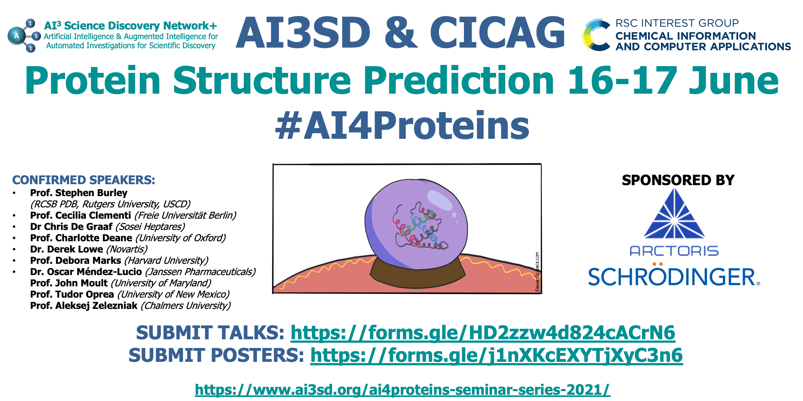 Read more about the article 16-17/06/2021 – AI3SD & RSC-CICAG Protein Structure Prediction
