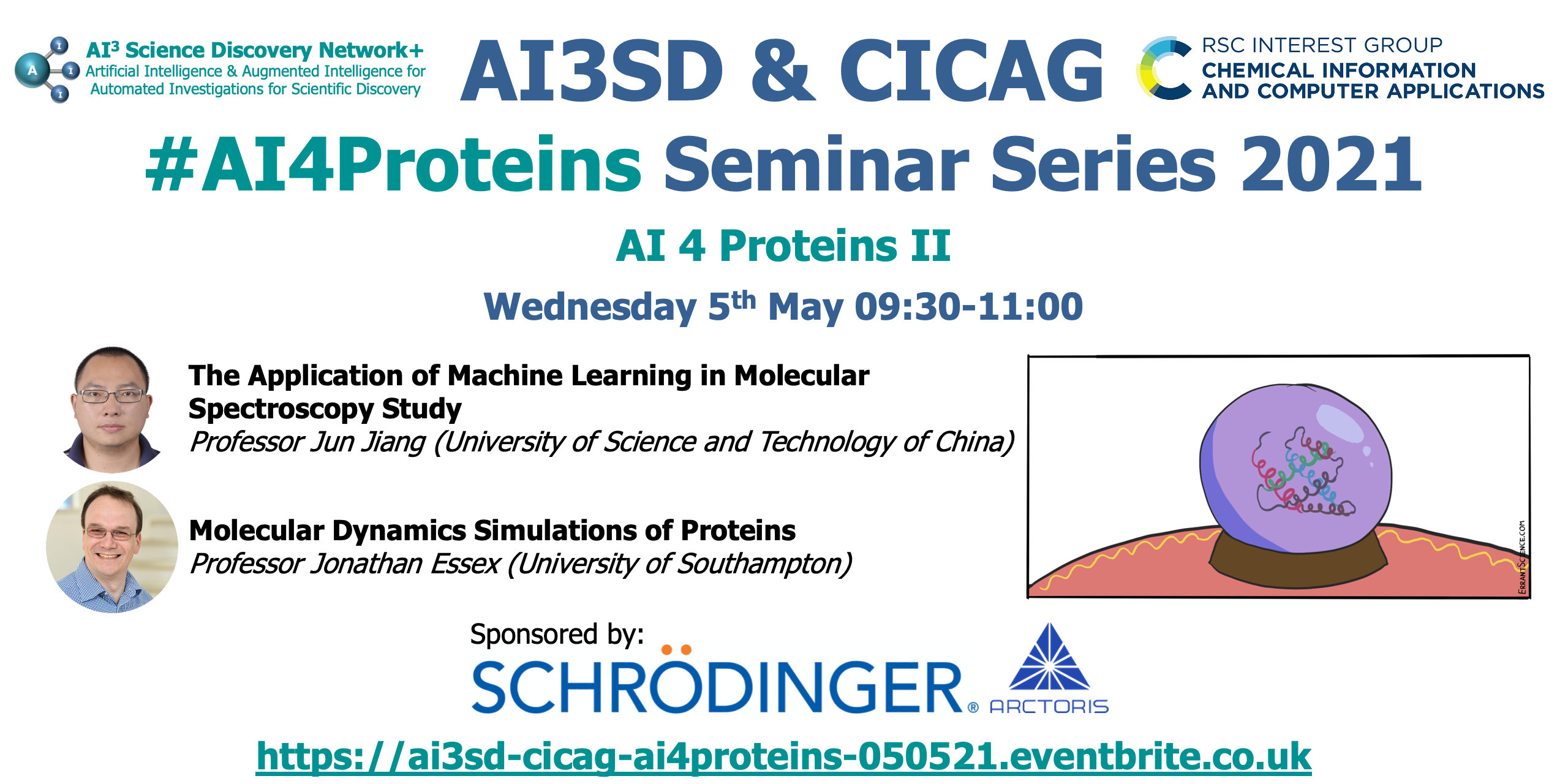 Read more about the article 05/05/2021 – AI3SD & RSC-CICAG AI 4 Proteins II