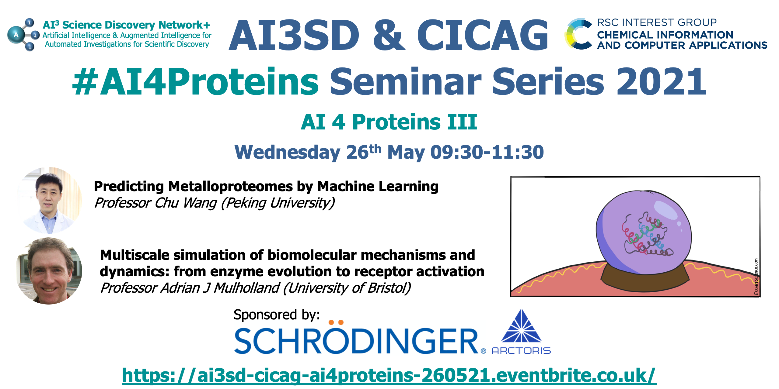 Read more about the article 26/05/2021 – AI 4 Protein Seminar Series: III