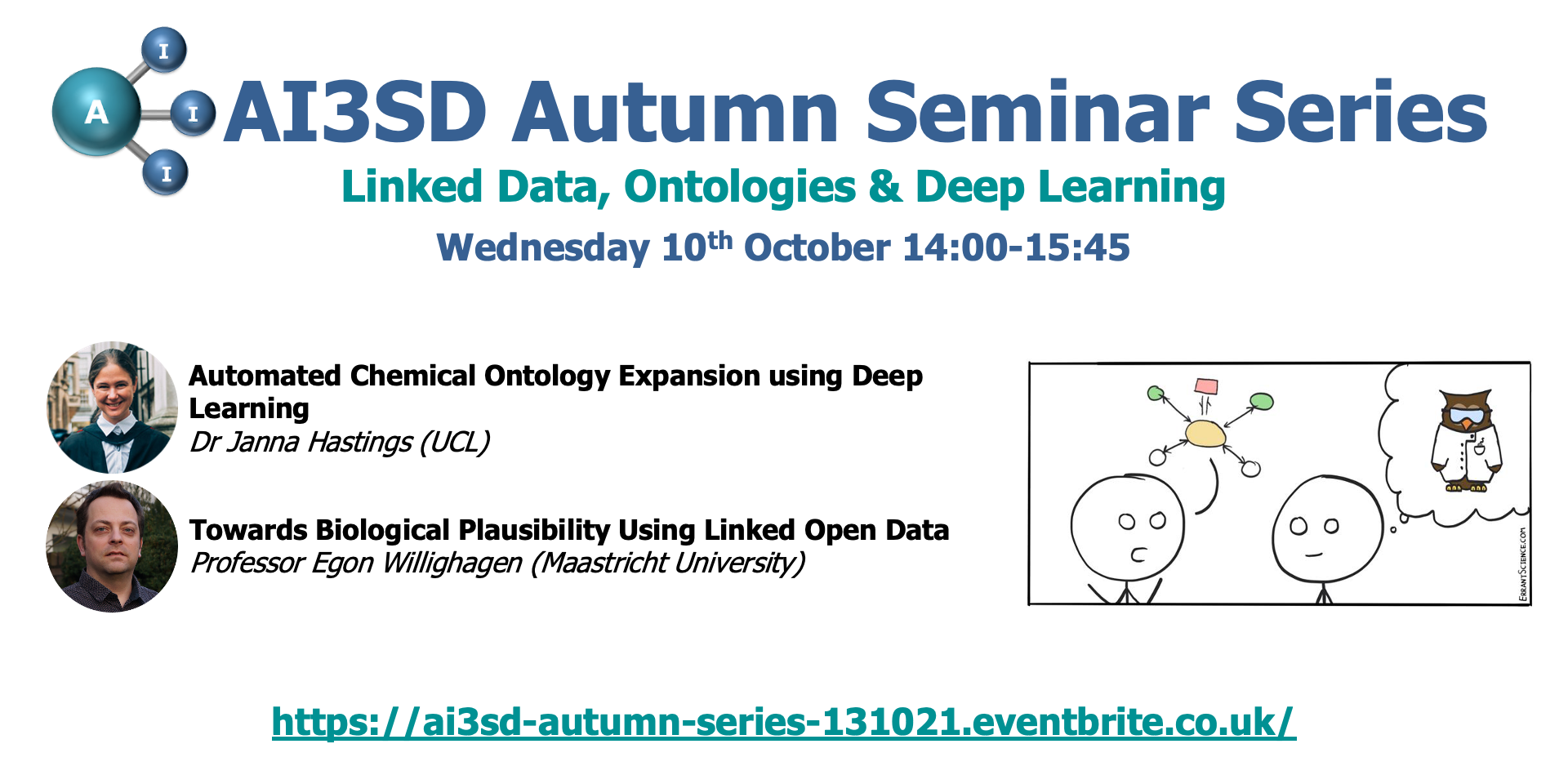 Read more about the article 13/10/2021 – AI3SD Autumn Seminar Series I: Linked Data, Ontologies & Deep Learning