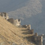 The walls on the slopes of the upper Bala Hissar.