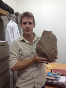 Dr. James Cole with a Large LCT at the National Museum in Dar.