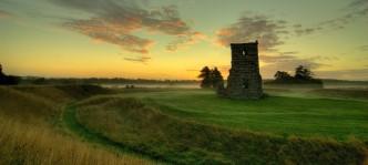 Photo of Knowlton Church at dawn
