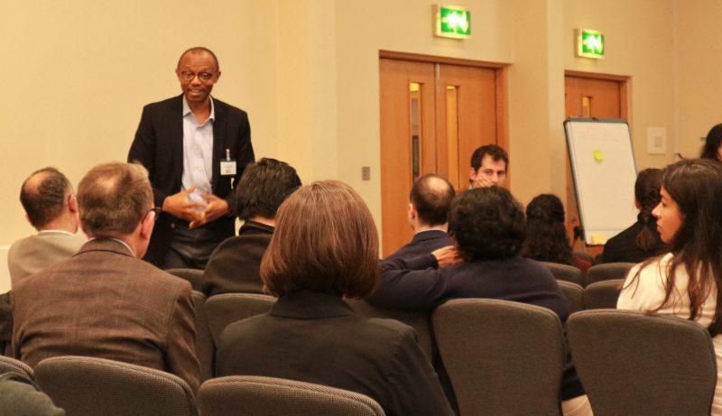 Prof Joe Akunna chairing first flash presentation
