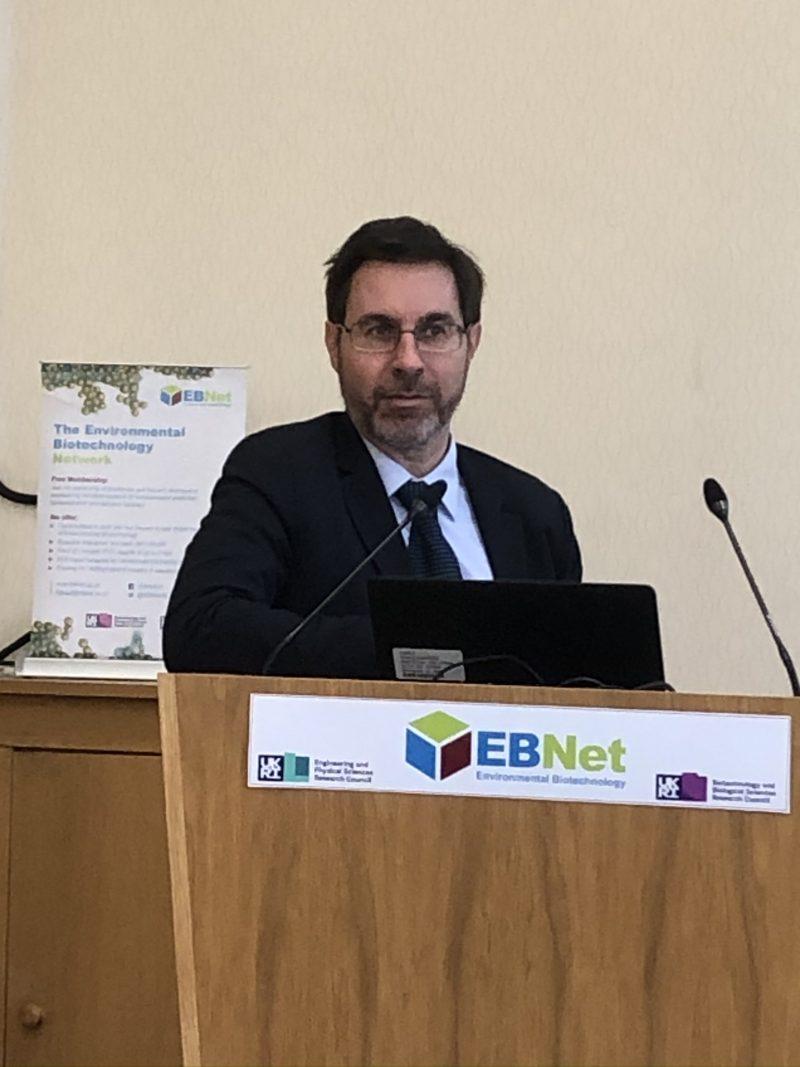 Prof Renato Baciocchi describing attenuation rates using flux chambers