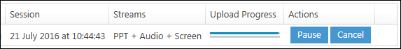 Two progress bars on one line. The top is at 95% and the bottom at 0%.