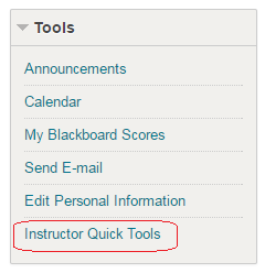 Instructor Quick Tools