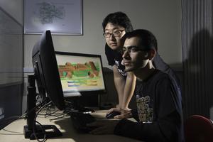 NGCM Students studying race-car aerodynamics